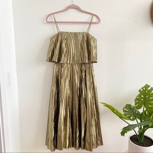 J. Crew • Collection Pleated Midi Dress Sz 2